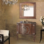 Antique bathroom vanity with classical faucet