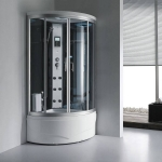 Small size steam shower with massage jets