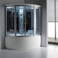Round steam shower room for two persons