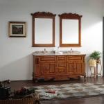 "63"" double basin bathroom cabinet"