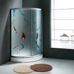 Color glass shower cubicle
