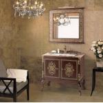 Luxury bathroom cabinet with mirror light