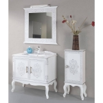 Bathroom cabinet with Auxiliary cabinet