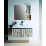 High bath cabinet with mirror cabinet