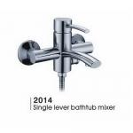 Bathtub mixer in brass body