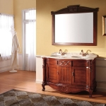 Empired double bowl bathroom cabinet