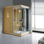 Wooden dry steam room unit
