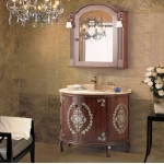 Round bathroom cabinet with Mirror Cabinet