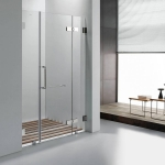 Frameless pulling shower door