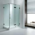 Square frameless shower door
