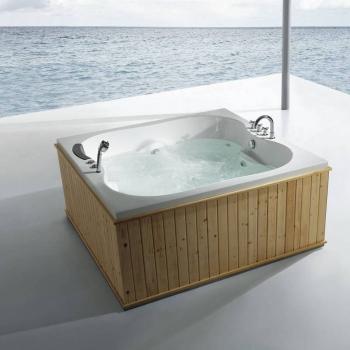 Round massage bathtub with hand shower
