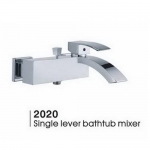 Chrome finish brass bath mixer