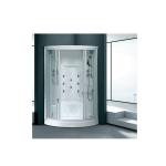 Corner round steam shower stall