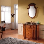 Anchor shape bath mirror with cabinet